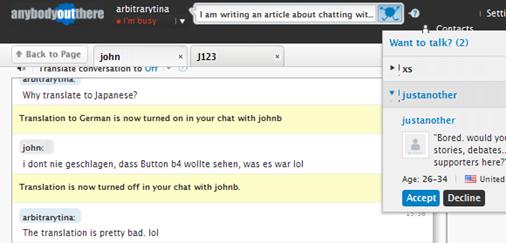 chat para hablar con gente